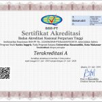 BAN PT Accreditation Certificate for English Literature Study Program FIB-UNHAS